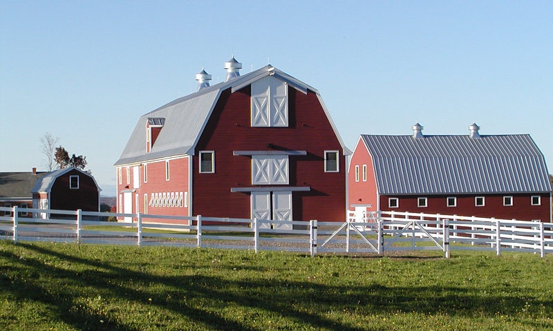 Red Barns. Photo Provided by Pineland Farms
