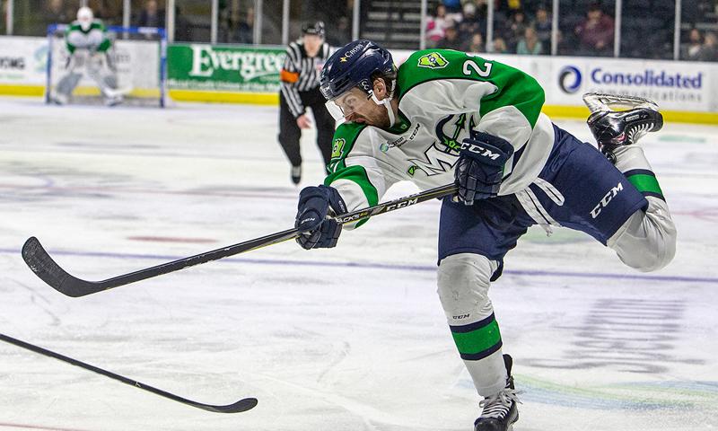 Hockey Player. Photo Provided by Maine Mariners