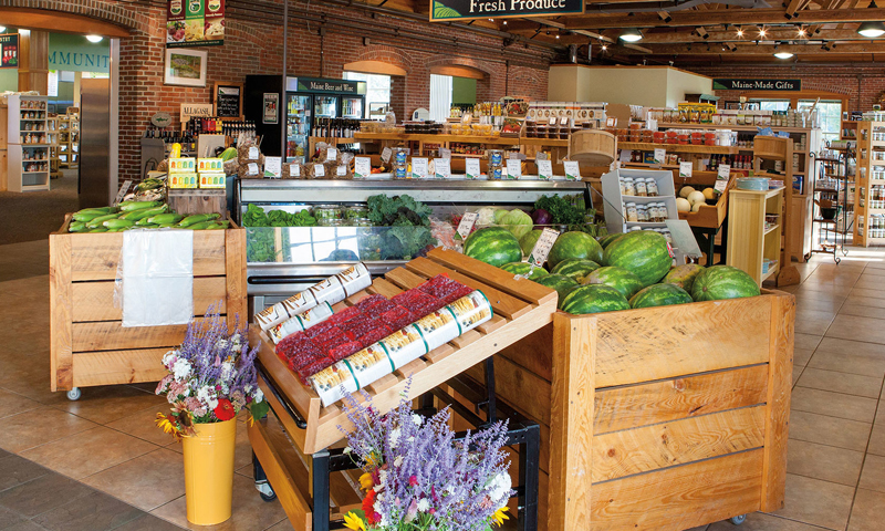 Marketplace. Photo Provided by Pineland Farms