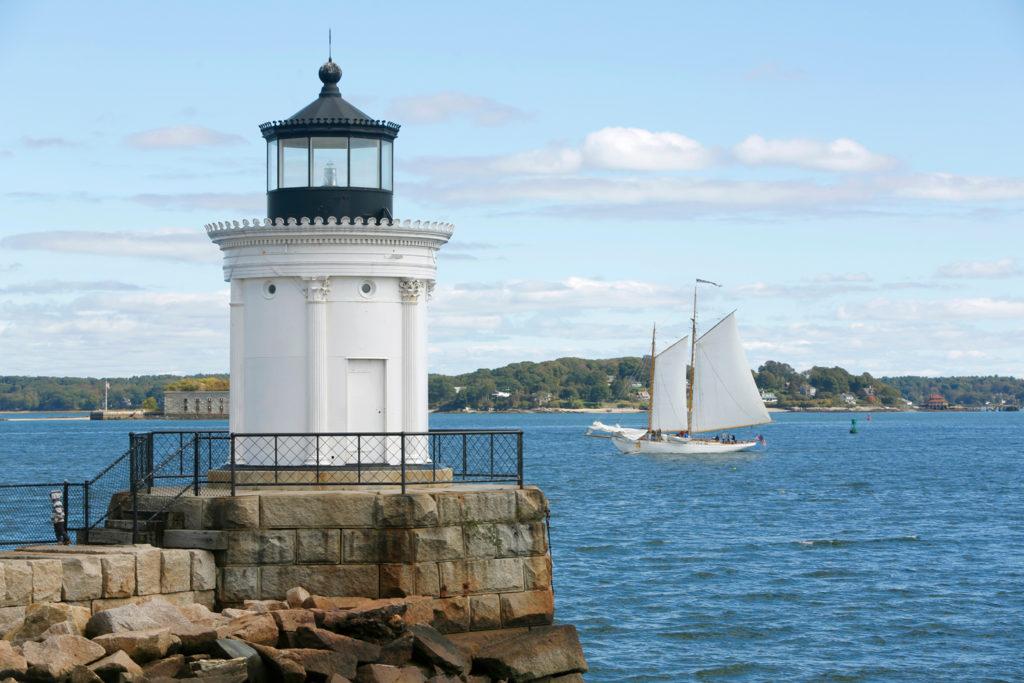 Maine Bug Light Portland Breakwater Light Day