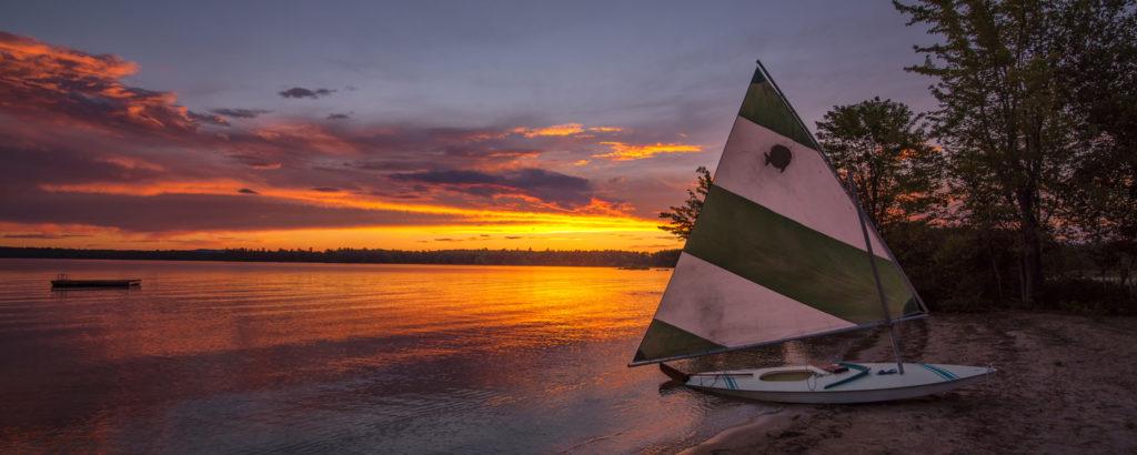 Kayak on Beach at Sunset, Photo Credit: CFW Photography