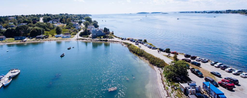 Drone of Islands and Casco Bay, Photo Credit: Casco Bay Lines