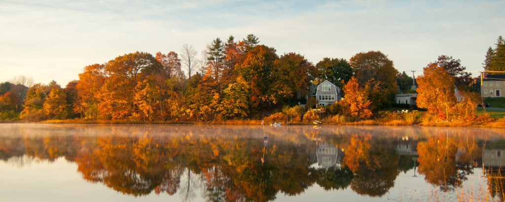 Fall Foliage Over River, Photo Credit: Chris Lawrence