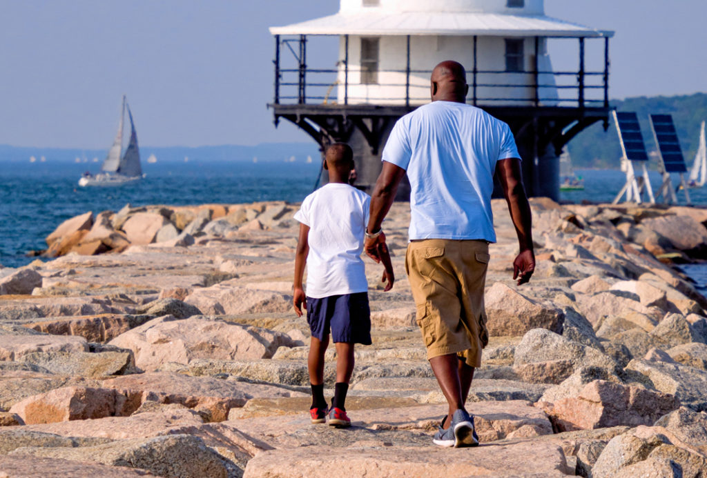 Discover ligthhouses, forts, and Maine's coastline. Photo of Spring Point Lighthouse, Photo Courtesy of John Bald