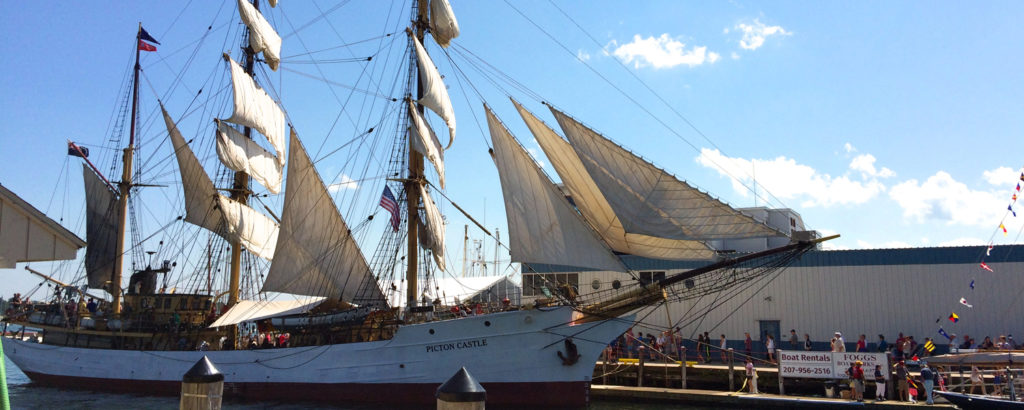 Sailing Ship Maine Docked, Photo Credit: Sam Fiorillo