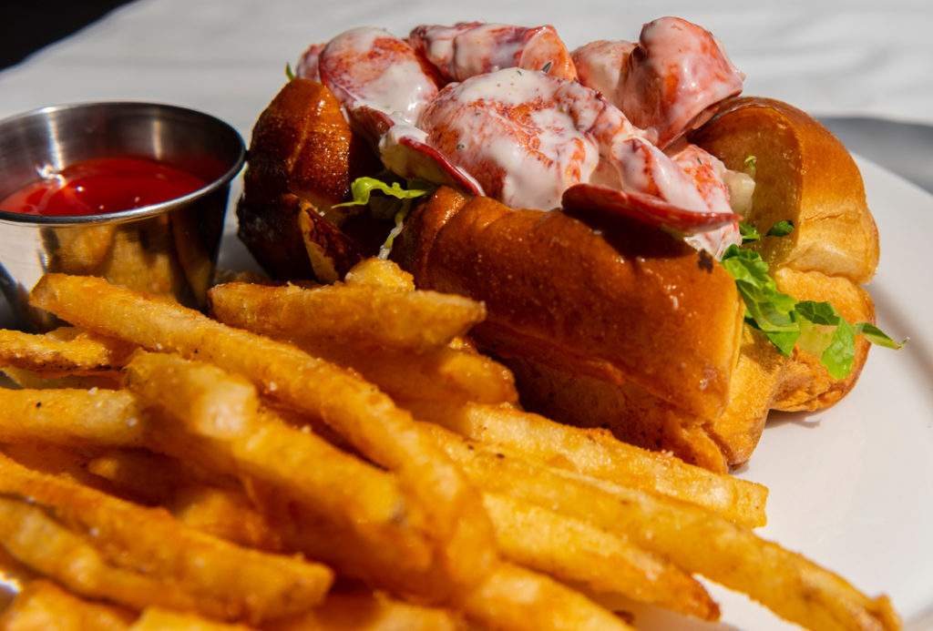 Lobster Roll at Diamond's Edge on the Casco Bay Islands by CFW Photography