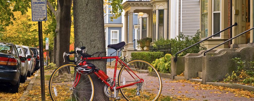 Bike Against Tree on West End Neighborhood, Photo Credit: Corey Templeton