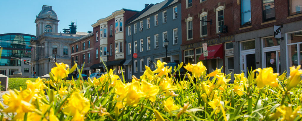 Portland Square with Flowers, Photo Credit: Corey Templeton