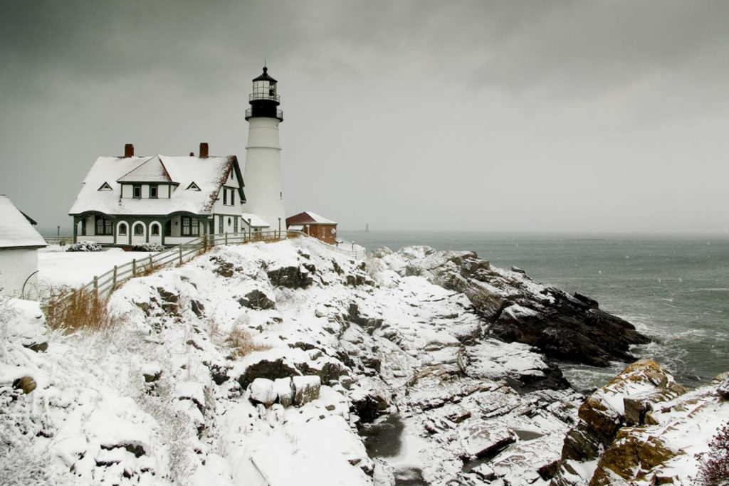 Portland Head Light Winter, Photo Courtesy of CFW Photography