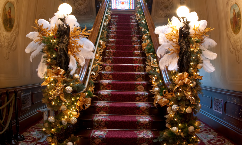 Victoria Mansion Red Staircase, Photo Courtesy of CFW Photography