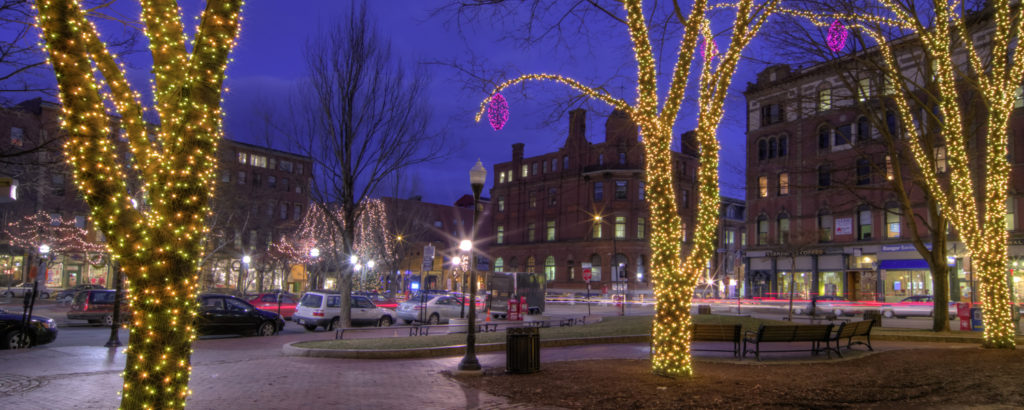 Portland Lit-Up During Winter, Photo Credit: Cynthia Farr Weinfeld