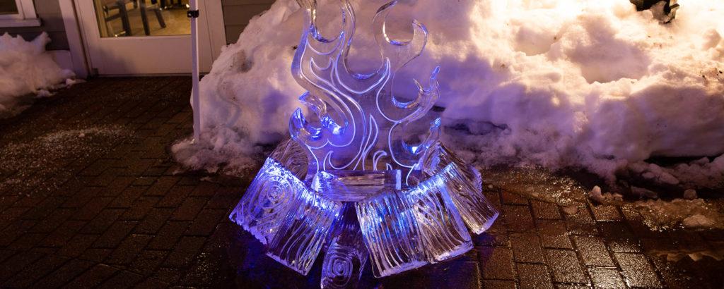 Ice Bar set-up in Freeport, Photo Credit: Sharyn Peavey
