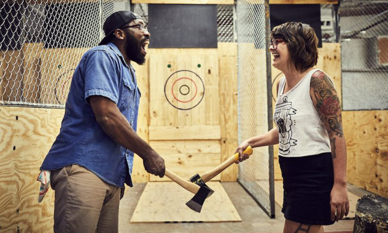 Axe Throwing, Photo Courtesy of the Axe Pit