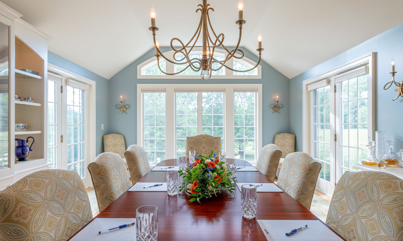 Indoor Conference Room at Mowfield, Photo Credit: Peter Morneau