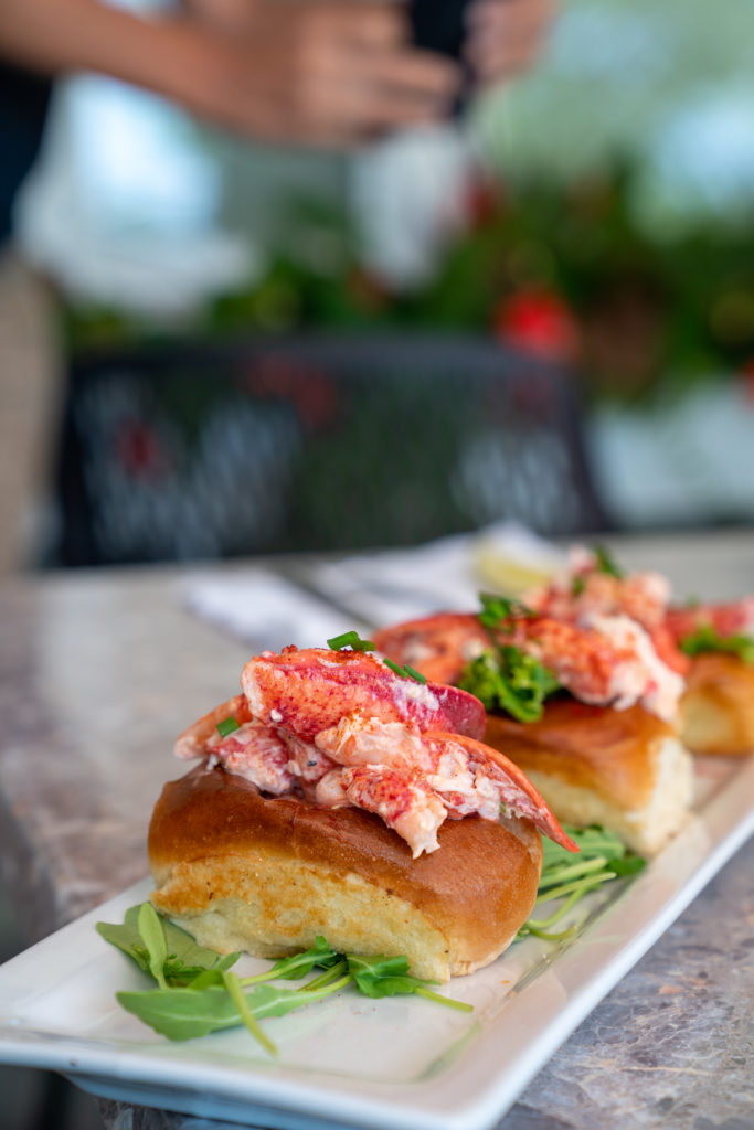 A Row of Mini Lobster Rolls on Peaks Island, Photo Courtesy of Visit Portland / GLP Films