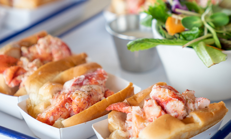 Trio of Lobster Rolls on Peaks Island, Photo Courtesy of Kirsten Alana / GLP Films