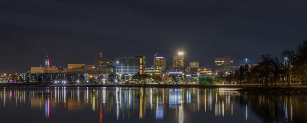 Portland Cityscape at Night, Photo Credit: Peter G. Morneau