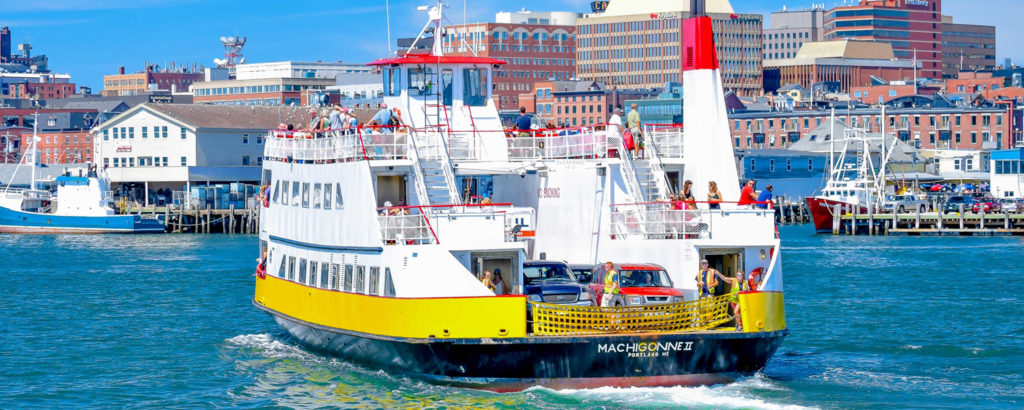 Casco Bay Lines Ferry Out on the Water, Photo Credit: Peter G. Morneau
