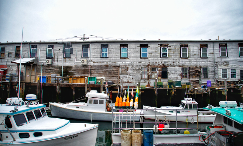 Boats on Custom House Wharf on Portland's Working Waterfront in Winter, Photo Credit: Capshore Photography