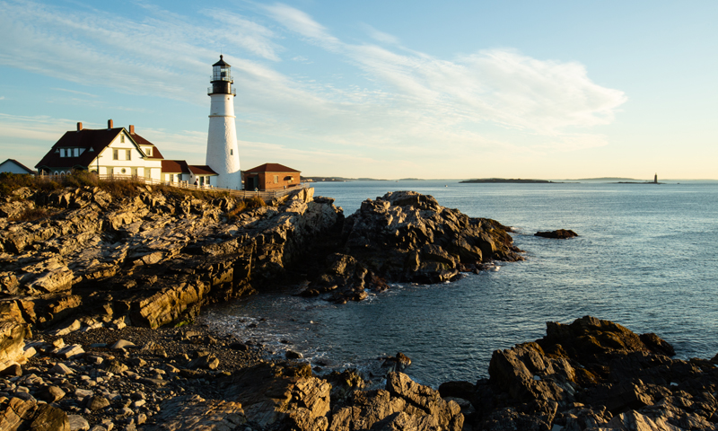 Portland Head Light and rocky Coast, Photo Credit: Visit USA Parks and Tobey Schmidt