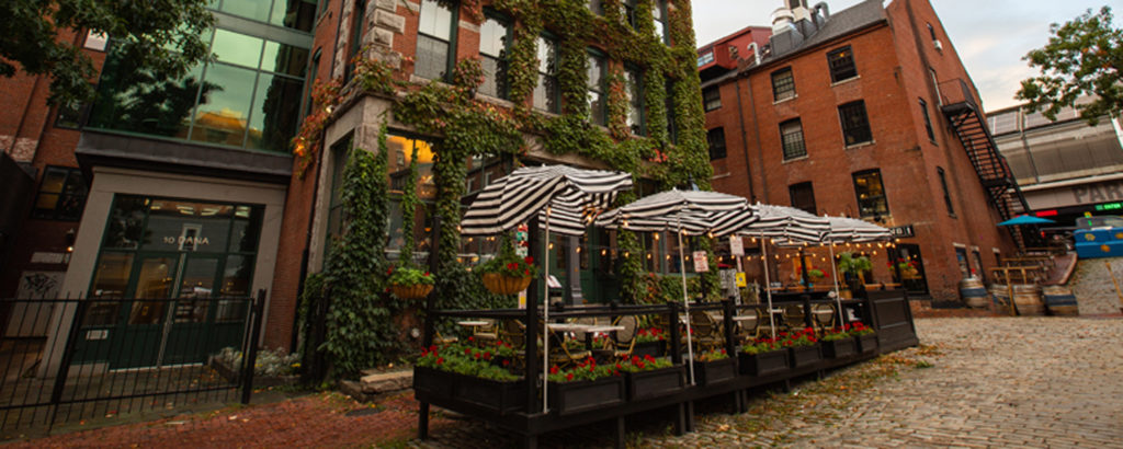 Green Moss Covered Building in Downtown Portland, Photo Credit: Visit USA Parks and Tobey Schmidt