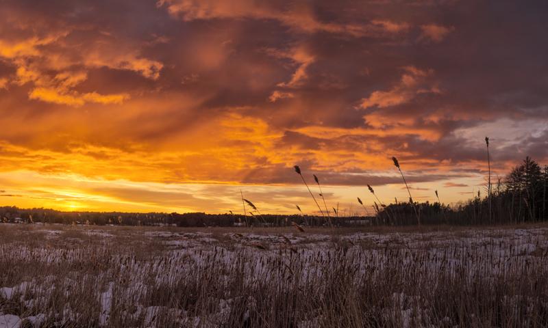 Scarborough Marsh Winter Sunset, Photo Credit: CFW Photography