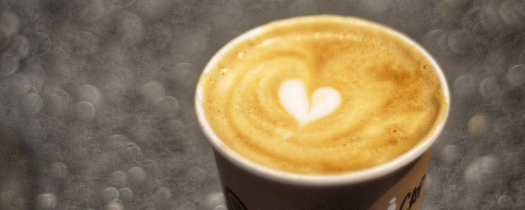 Coffee By Design Heart Design in Foam, Photo Credit: Capshore Photography