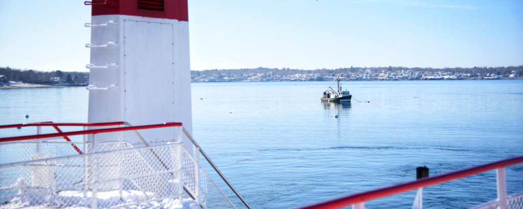 Casco Bay Lines looking out towards Portland harbor, Photo Credit: Capshore Photography