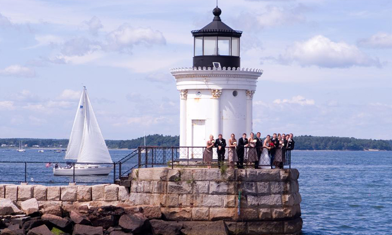 Family Gathered at Lighthouse for Wedding, Photo Credit: Focus Photography