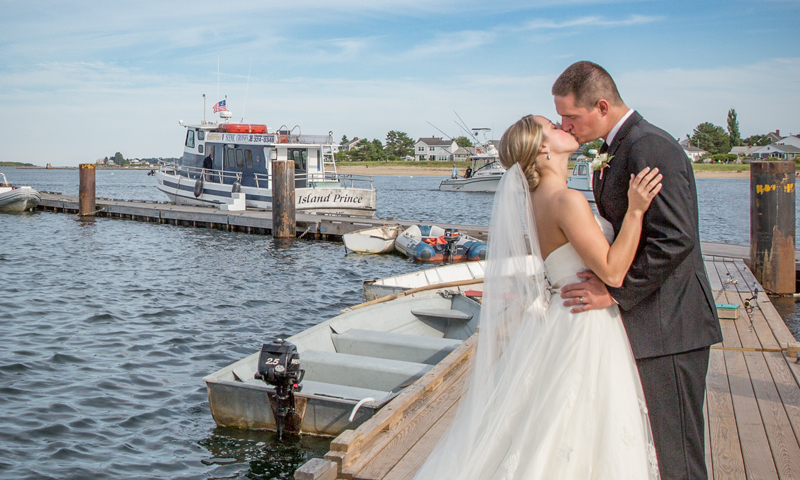 Couple on Dock, Photo Credit: Russel Caron Photography