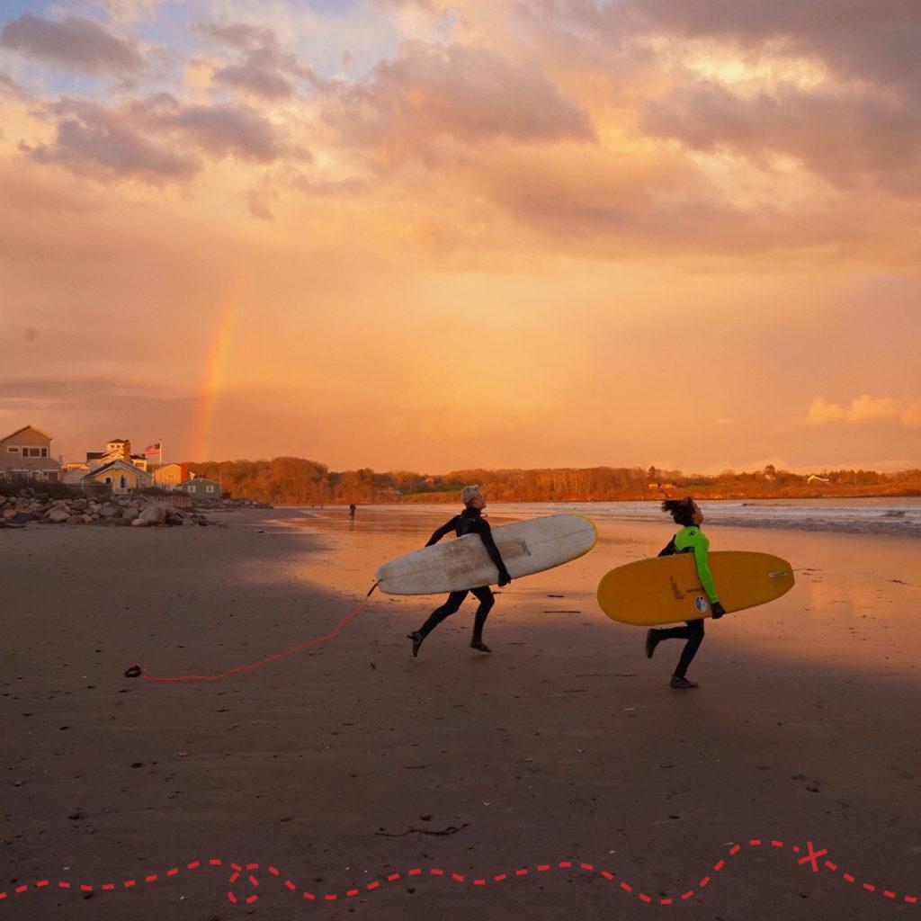 Wander South, Higgins Beach surfers. Photo Credit: Lisa Jesmain Photography