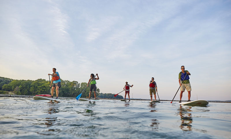 Paddleboarding, L.L.Bean Outdoor Discovery Programs. Photo Courtesy of Visit Freeport