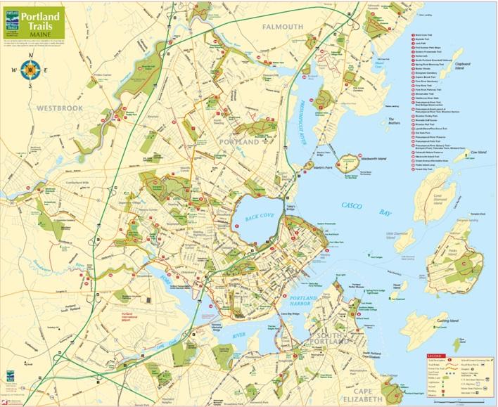 Portland Trails Map