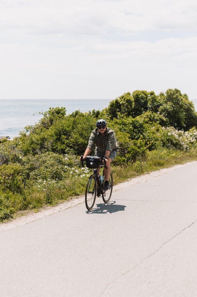 biking around peaks- photo credit: maine the way