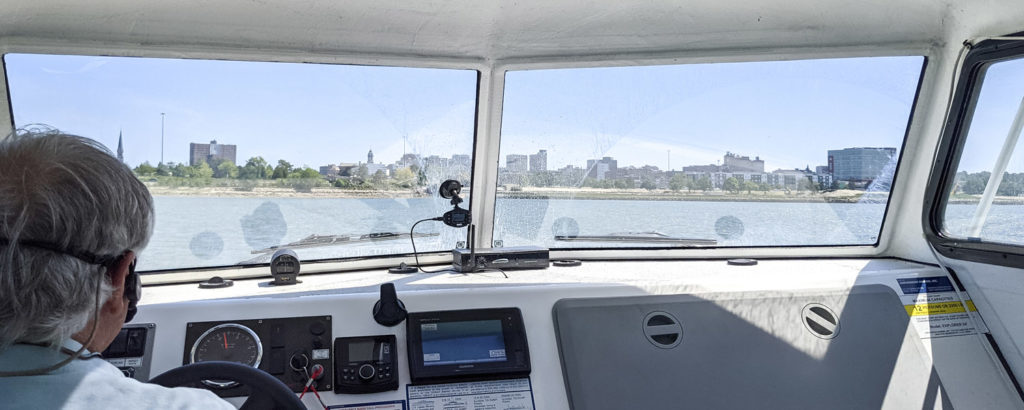 Aboard on Hovercraft of Maine. Photo Credit: Capshore Photography