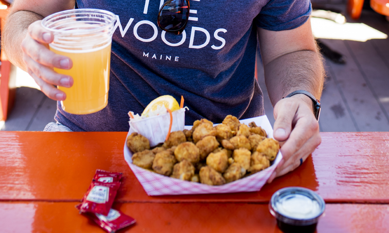 Fried Scallop Plate with Beer Downtown. Photo Credit: Capshore Photography