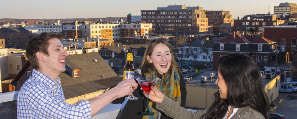 Friends at Rooftop Bar, Photo Credit: CFW Photography